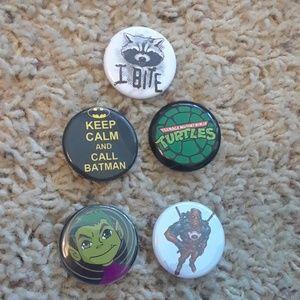 Super hero button bundle